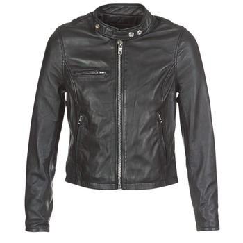 material Women Leather jackets / Imitation le Schott LCW9641A Black