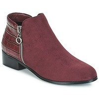 Shoes Women Mid boots Moony Mood JADE Bordeau