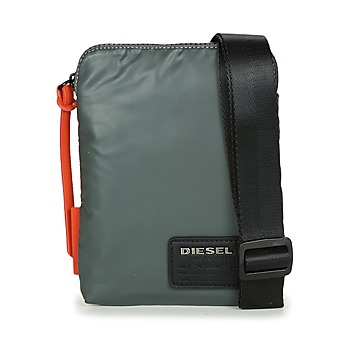 Bags Men Pouches / Clutches Diesel DISCOVER SMALLCROSS Grey / Orange