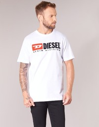 material Men short-sleeved t-shirts Diesel T JUST DIVISION White