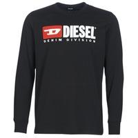 material Men Long sleeved shirts Diesel T JUST LS DIVISION Black