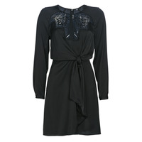 material Women Short Dresses Guess CYPRIENNE Black