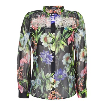 material Women Shirts Guess CLOUIS Black / Multicoloured