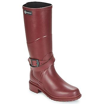 Shoes Women Wellington boots Aigle MACADAMES Bordeaux