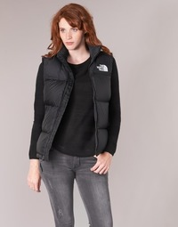 material Women Duffel coats The North Face NUPTSE VEST Black