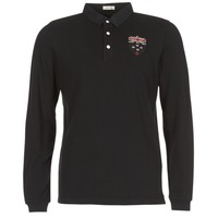 material Men long-sleeved polo shirts Serge Blanco POLO NEW ZEALAND Black