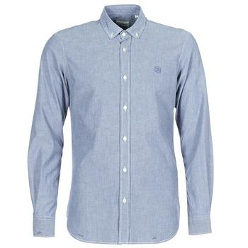 material Men long-sleeved shirts Serge Blanco 15 DOS Blue