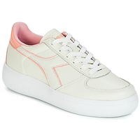 Shoes Women Low top trainers Diadora B.ELITE L WIDE WN Ecru / Pink