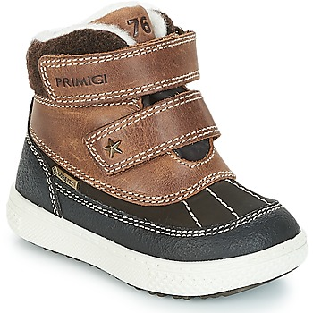 Shoes Boy Mid boots Primigi (enfant) 2372600 PBZGT GORE-TEX Brown