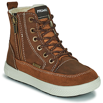 Shoes Boy Mid boots Primigi (enfant) PCA 24130 Brown