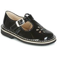 Shoes Girl Ballerinas Aster DINGO Black / Varnish