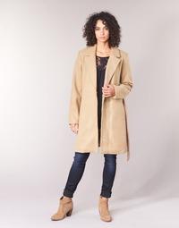 material Women coats Vila VILUS Camel