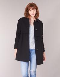material Women coats Sisley FAREDA Black