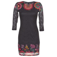 material Women Short Dresses Desigual DARINA Black