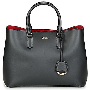 Bags Women Handbags Lauren Ralph Lauren DRYDEN MARCY SATCHEL LARGE Black / Red