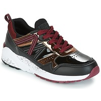 Shoes Women Low top trainers Superdry URBAN STREET RUNNER Black / Bordeaux