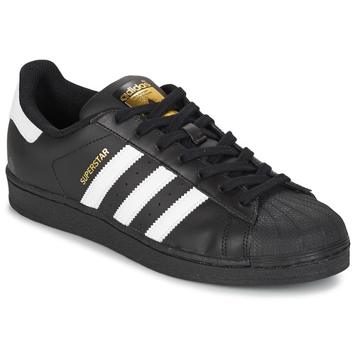 Shoes Low top trainers adidas Originals SUPERSTAR FOUNDATION White / Black