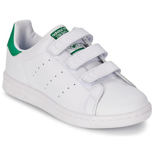 Shoes Children Low top trainers adidas Originals STAN SMITH CF C White / Green