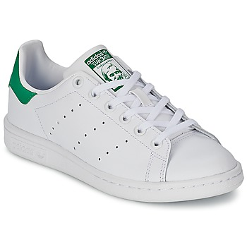 Shoes Children Low top trainers adidas Originals STAN SMITH J White / Green