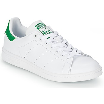 Shoes Low top trainers adidas Originals STAN SMITH White / Green