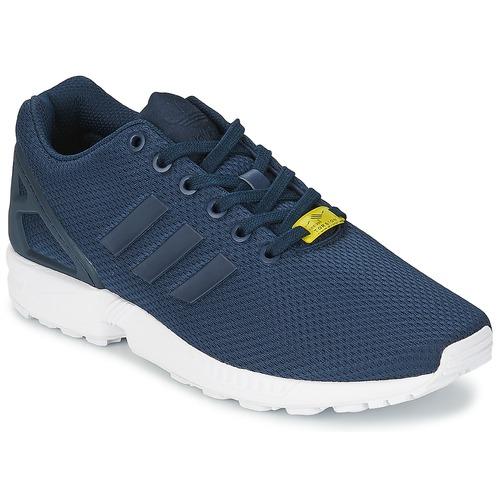 Shoes Men Low top trainers adidas Originals ZX FLUX Blue / White