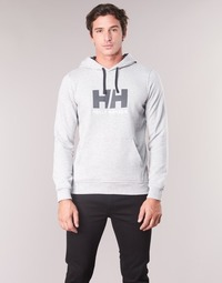 material Men sweaters Helly Hansen HH LOGO HOODIE Grey
