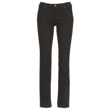 material Women straight jeans Lee MARION STRAIGHT Black