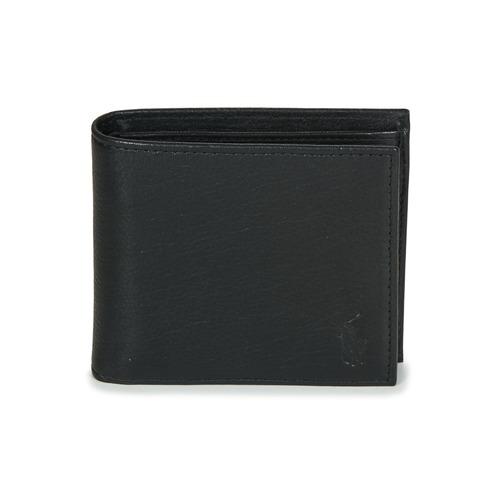 Bags Men Wallets Polo Ralph Lauren EU BILL W/ C-WALLET-SMOOTH LEATHER Black