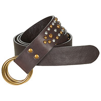 Clothes accessories Women Belts Polo Ralph Lauren DOUBLE O RING Brown