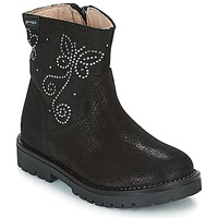 Shoes Girl Mid boots Garvalin COSMOPOLITAN SERRAJE Black / Silver