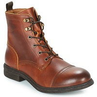 Shoes Men Mid boots Selected TERREL LEATHER BOOT Cognac