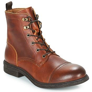 Shoes Men Mid boots Selected TERREL LEATHER BOOT Cognac