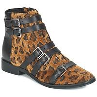 Shoes Women Mid boots Le Temps des Cerises IZY Leopard