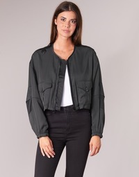 material Women Blouses G-Star Raw RACKAM OS CROPPED BOMBER Black