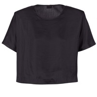 material Women Blouses G-Star Raw COLLYDE WOVEN TEE Black