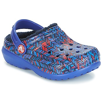Shoes Children Clogs Crocs CLASSIC LINED GRAPHIC CLOG K Blue