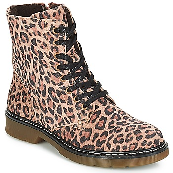 Shoes Girl Mid boots Bullboxer LANA Leopard