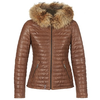 material Women Duffel coats Oakwood HAPPY Cognac