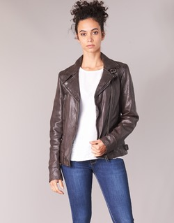 material Women Leather jackets / Imitation le Oakwood VIDEO Brown