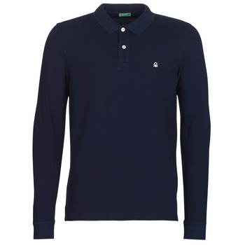 material Men long-sleeved polo shirts Benetton MAZARRI Marine