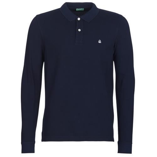 material Men long-sleeved polo shirts Benetton MAZARRI Marine