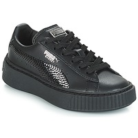 Shoes Girl Low top trainers Puma G PS B PLATFORM BLING.BLK  black