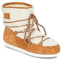 Shoes Women Snow boots Moon Boot FAR SIDE LOW SHEARLING Cognac / White