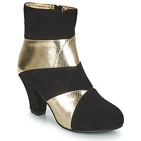 Shoes Women Ankle boots Lola Ramona ELSA Black / Gold