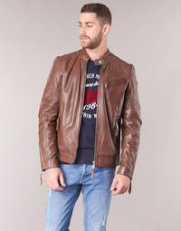 material Men Leather jackets / Imitation le Redskins TRUST CASTING Brown