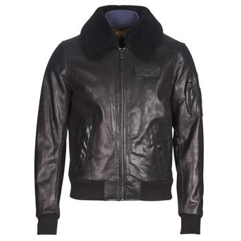 material Men Leather jackets / Imitation le Redskins COMMANDER STRIKING Black