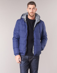 material Men Duffel coats Tommy Hilfiger REVERSIBLE HOODED BOMBER Marine / Reversible / Chevron / Grey