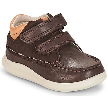 Shoes Boy High top trainers Clarks Cloud Tuktu Brown / Combi / Lea