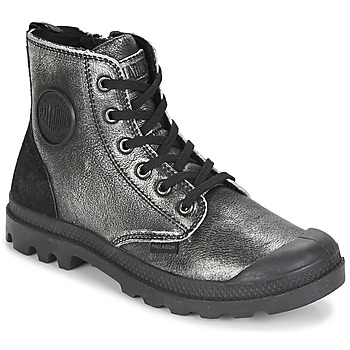 Shoes Women Mid boots Palladium PAMPA HI Black / Silver