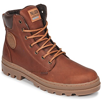 Shoes Men Mid boots Palladium PALLABOSSE SC WP Brown